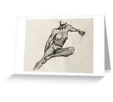 Woman in Seat - Figure Greeting Card