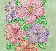 Hibiscus by thuraya arts