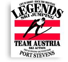 Austria Ski Jumping Canvas Print