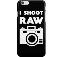 I Shoot RAW - White iPhone Case/Skin