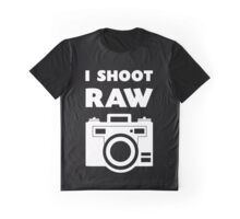 I Shoot RAW - White Graphic T-Shirt