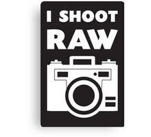 I Shoot RAW - White Canvas Print