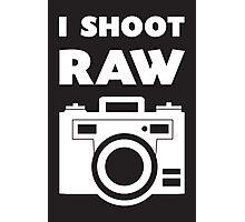 I Shoot RAW - White Photographic Print