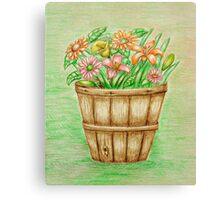 basket flowers  Canvas Print