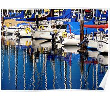 Santa Cruz Harbor Morning Poster