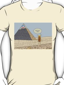 Obama and the Ant at the Pyramids 2012 T-Shirt