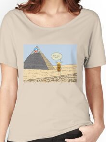 Obama and the Ant at the Pyramids 2012 Women's Relaxed Fit T-Shirt