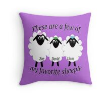 These are a few of my favorite sheeple Throw Pillow