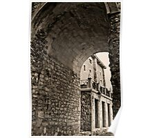 Hondarribia archway Poster