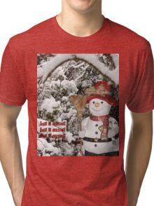 Let It Snow Let It Snow Let It Snow Tri-blend T-Shirt