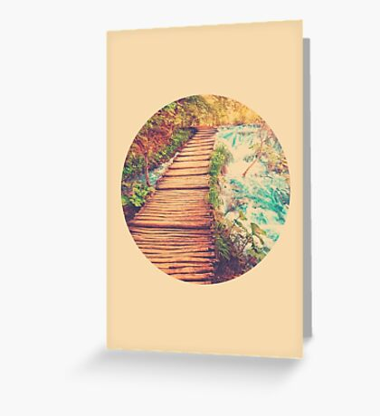 Sojourn Through Serenity - Circle Print Greeting Card