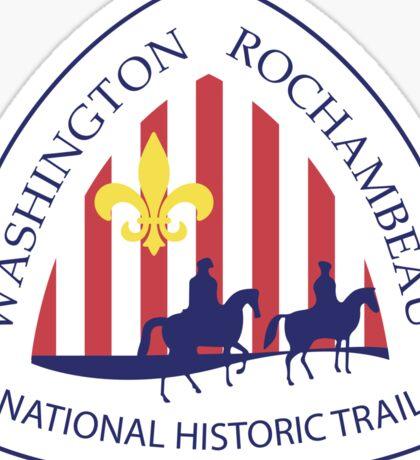 Washington-Rochambeau Revolutionary Route Trail Sign, USA Sticker