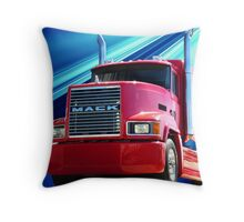 Red Mack Throw Pillow