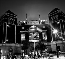 The Rangers Ballpark Entrance at Arlington, Texas.  by Rafiul Alam