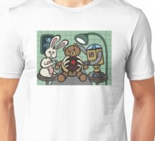 Teddy Bear And Bunny - Bearing The Heart And Paying For It Unisex T-Shirt
