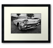 White Caddy in black and white Framed Print