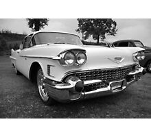 White Caddy in black and white Photographic Print