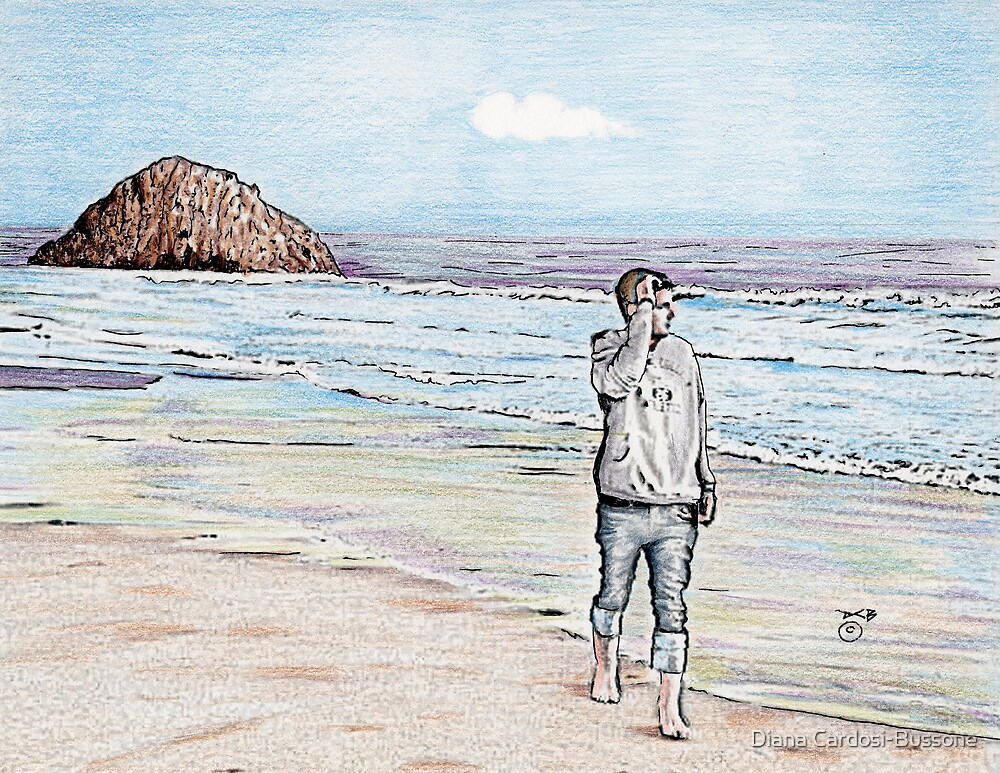 Morro Beach Solitude by Diana Cardosi-Bussone