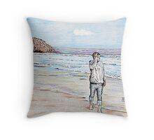 Morro Beach Solitude Throw Pillow