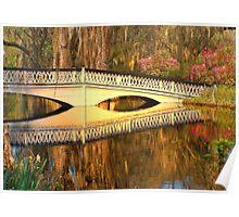Bridge At Magnolia Plantation Poster