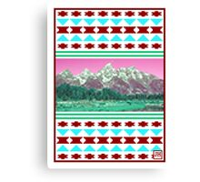 8-Bit Mountains Canvas Print