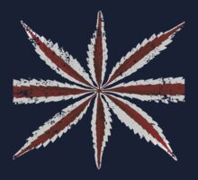 Marijuana Union Jack - Close Up Distressed by portispolitics