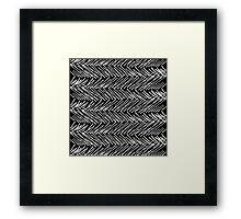 Modern Hand Drawn Scribble Zigzag Framed Print