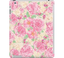 Romantic chic vintage pink floral polka dots iPad Case/Skin