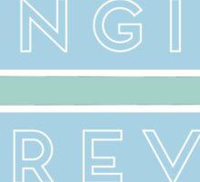Fangirl Forever Blue Sticker