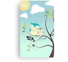 Sleeping Owls Canvas Print