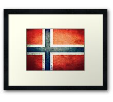 Norway - Vintage Framed Print