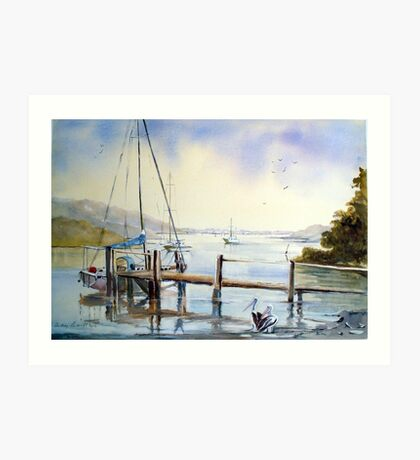 Early morn at Orient point near Nowra N.S.W. Art Print