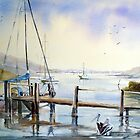 Early morn at Orient point near Nowra N.S.W. by Audrey  Russill