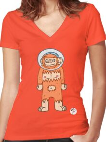 Monkey Brush - Aaron Women's Fitted V-Neck T-Shirt