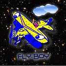 Fly Boy at Night Amongst the Stars by Dennis Melling