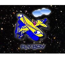 Fly Boy at Night Amongst the Stars Photographic Print