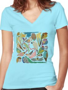 Birds of a Feather  Women's Fitted V-Neck T-Shirt