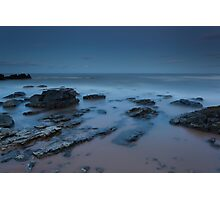 forvie sands by moonlight Photographic Print