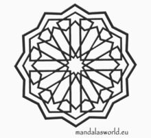 Alhambra Mandala Dark Grey by Mandala's World