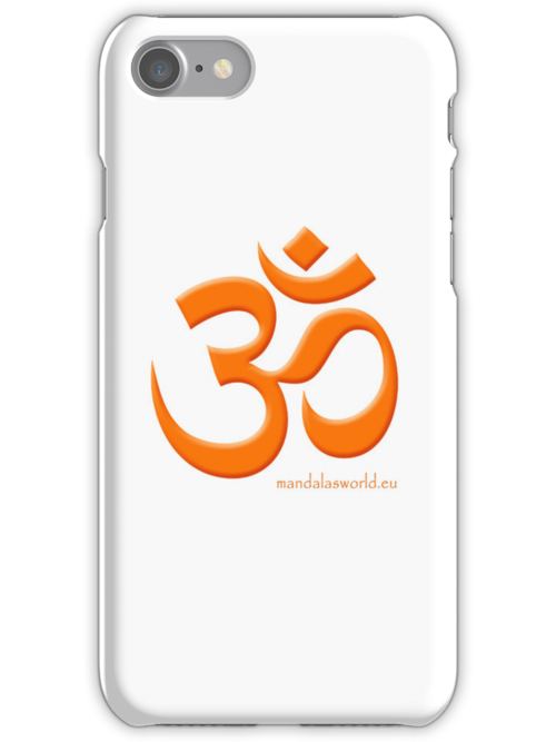 Buddhist Om Mantra Orange by Mandala's World