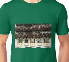 Austria, Tyrol, flowers blooming on a balcony  Unisex T-Shirt