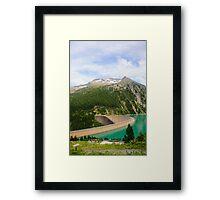 Austria, Zillertal High Alpine nature Park landscape Framed Print