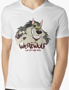 You Say Werewolf Like It's a Bad Thing, Ver. 2.0 (Light Colors) Mens V-Neck T-Shirt