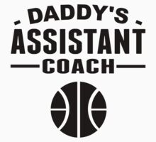 Daddy's Assistant Basketball Coach Kids Tee