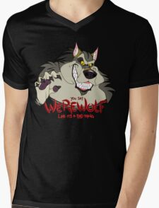 You Say Werewolf Like It's a Bad Thing, Ver. 2.0 (Dark Colors) Mens V-Neck T-Shirt