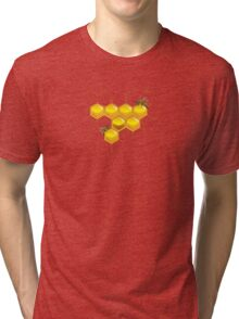 Bees and honeycomb Tri-blend T-Shirt