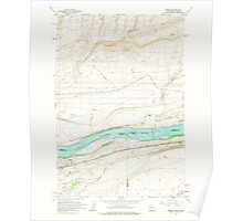 USGS Topo Map Washington State WA Irrigon 241671 1962 24000 Poster