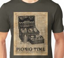 Picnic Time Vintage Illustration Dictionary Book Page Art Unisex T-Shirt