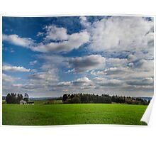 Green fields Poster