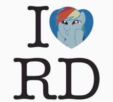 I <3 Rainbow Dash Baby Tee